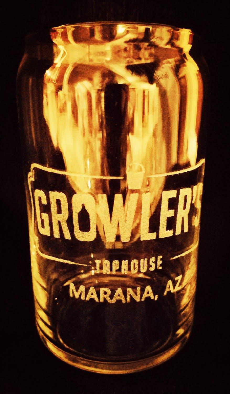 Growler's glass