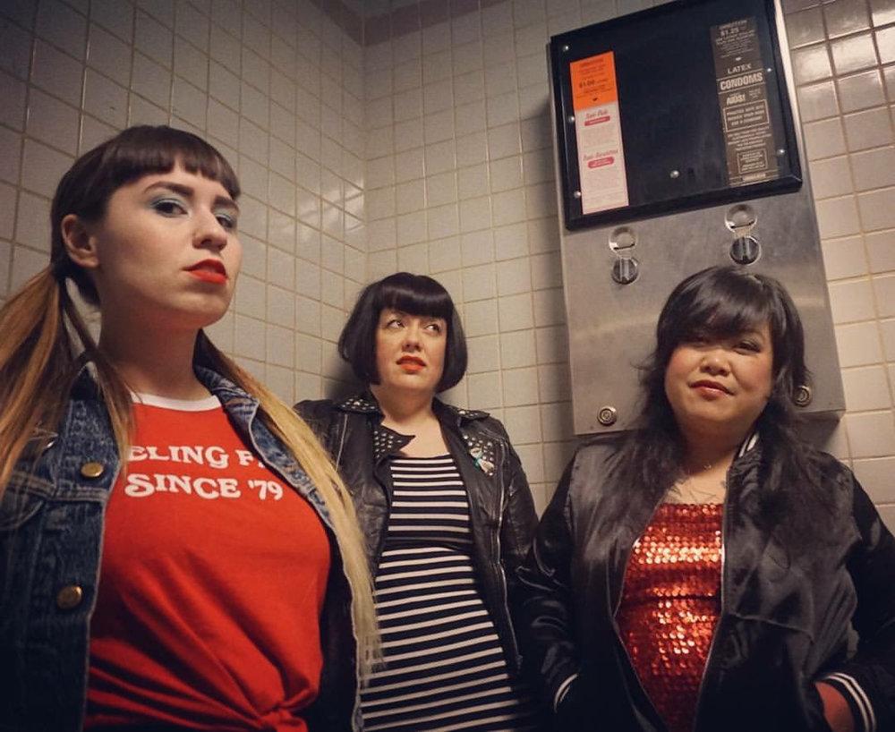 The Sorels (Winnipeg, MB) - A three-headed rock 'n' roll beast featuring both bubblegum-chewing ballads and trashy rock 'n' roll. Equal parts attitude, hairspray and leopard print, their howling vocals and growling rhythm is glam at its finest.