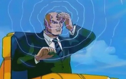 Professor X using telepathy, image from the X-Men Wiki