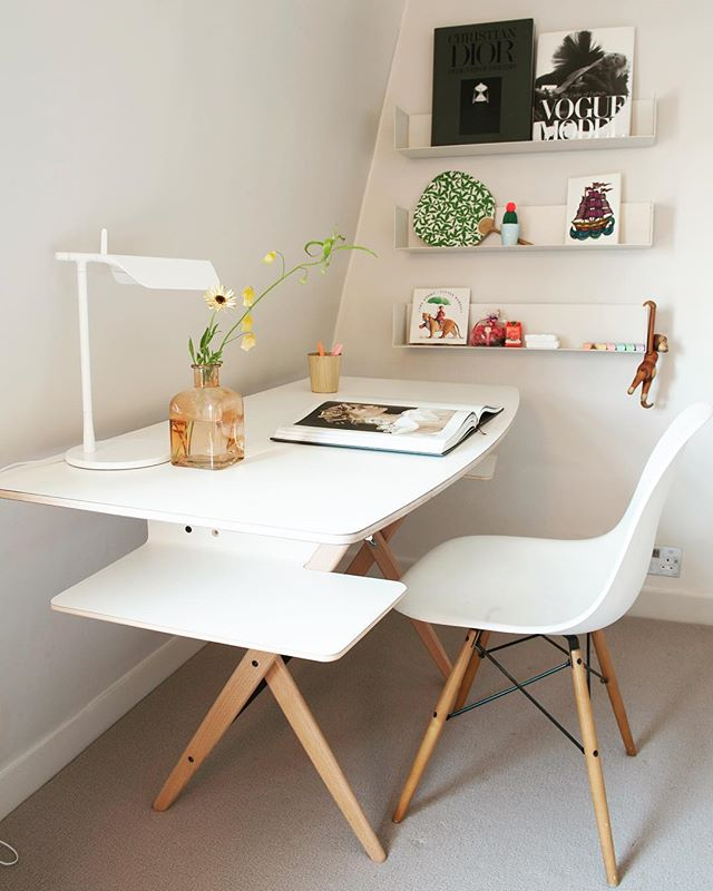 So the kids are back at school. We hope this cool little desk helps make the homework a little easier! #interiordesign #kidsroom #backtoschool #workspace #interiordecor