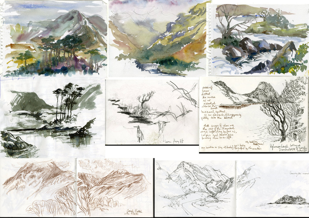 sketchbook plein air studies: Connemara