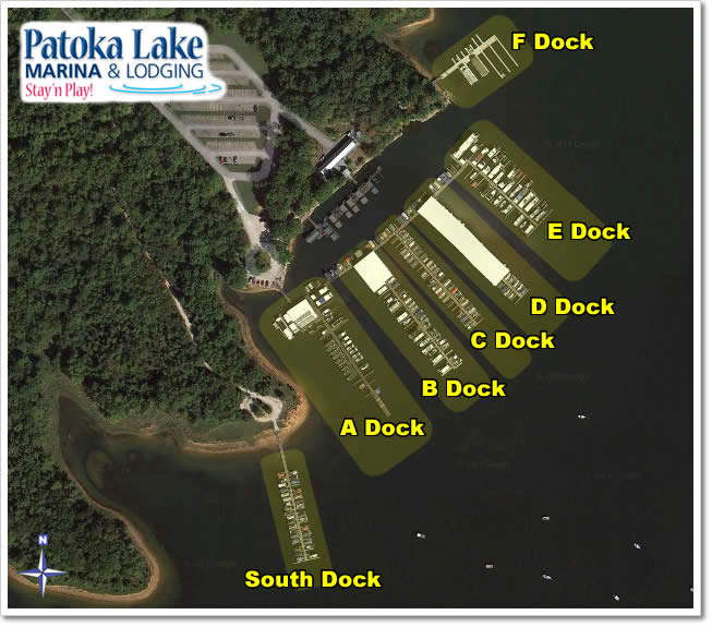 Overview map of the docks. See pictures of individual docks below...
