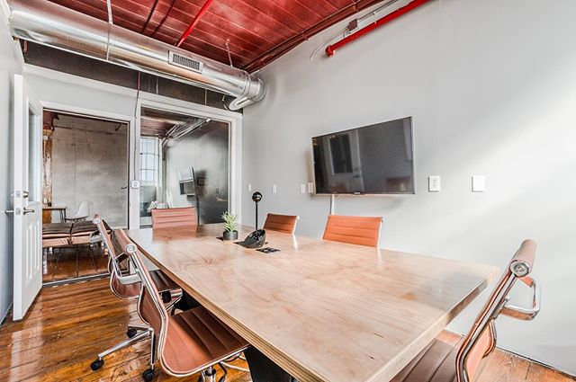 "Our Conference Room is officially open for business! - Comfortable Seating for Eight - 50"" Screen for Presentation - 4' White Board - Video Conferencing - Power Access in the Table - Great Natural Light - Complimentary Coffee and Snacks"