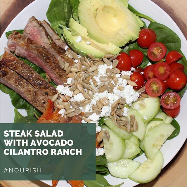 Salads are a staple, and we have a great recipe for you! Link in bio!  ___ #nourish #keto #salad #lifeisdelicious #yum #lowcarb #delicious #delectableliving