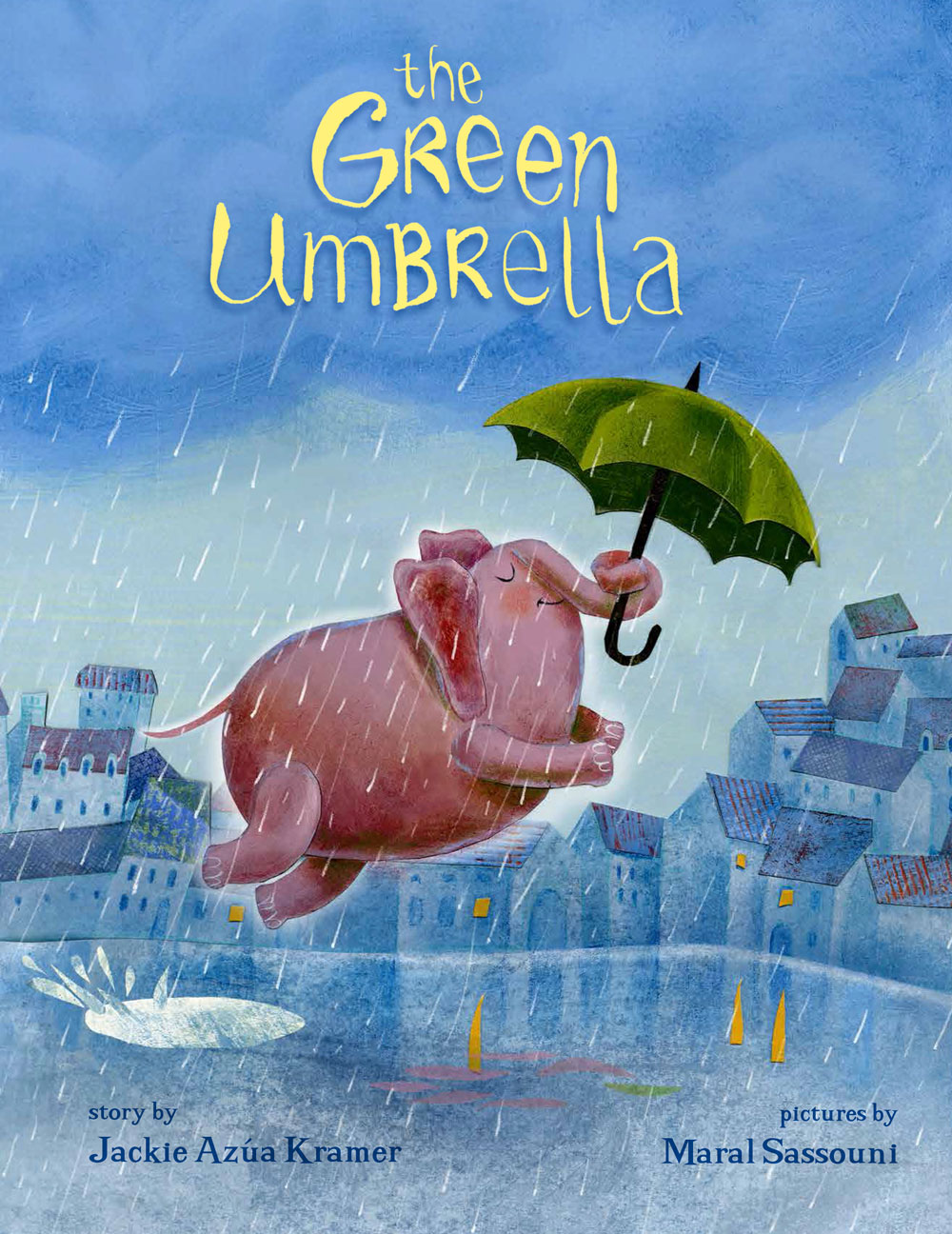 THE GREEN UMBRELLA - by Jackie Kramer, illustrations by Maral SassouniNorthSouth Books / NordSüd Verlag (2017)Hardcover: 32 pagesISBN-13: 978-0735842182•A 2017 Bank Street Best Children's Book of the Year.Mom's Choice Award - GoldParents Choice Award - SilverCrystal Kite 2018 - runner-up•Available in:English, German, Russian, Chinese, Slovenian and Romanian.