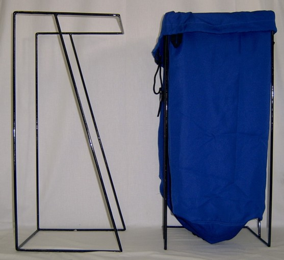 Z-Stands for laundry bags   Made of durable stainless steel, our Z-stands will allow for convenient and appropriate occupational health and safety use of our laundry bags to save unnecessary bending and lifting.