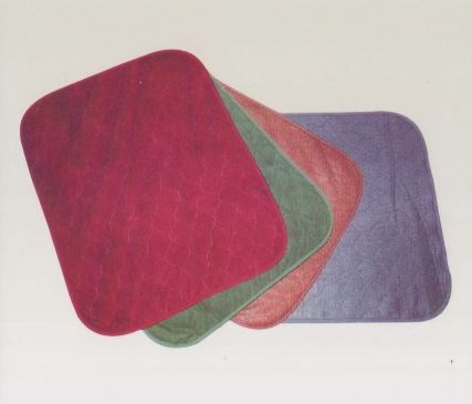 Chair pads   Velvet polyurethane chair pads  - 60 x 50 cm  - Range of colours available