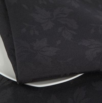 Feather Leaf Caress    - Black   A perfect choice for the formal occasion. Its leafy pattern has made this elegant fabric today's choice among function managers.