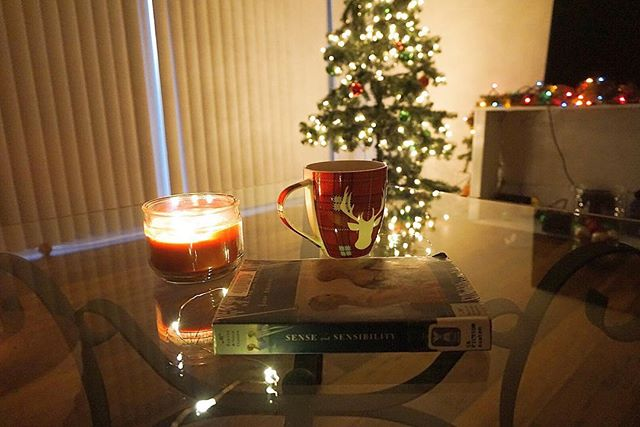 Reading, coffee, and cozy lighting? Sounds like the most perfect day to me☕️📚🎄