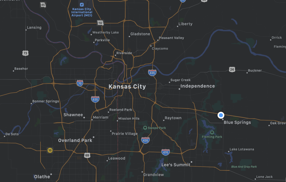 Our Practice - We are located in Blue Springs, Missouri and serve Lee's Summit, Independence, Grain Valley, and the surrounding areas. Our location is conveniently located near I-70, approximately 25 minutes from Kansas City, MO.Our Address:1500 NW Mock Avenue, Suite C., Blue Springs, MO 64015Our office features:-A pediatric therapy room with viewing window-An adolescent/adult therapy room-Ground floor access from parking lot-Handicap accessible parking-ADA-compliant restroom and doorways-Comfortable waiting room-Therapeutic kitchen space-Free coffee and beverages