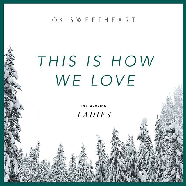 "11/17/17 New single ""This Is How We Love"" is out today featuring @listentoladies Engineered by @andyrecording recorded at @londonbridgestudio mastered by @peerlessmastering photo by @erinkaustin design by Mary Rauzi. Link in profile. . . . . . . #seattle #seattlemusic #seattlemusicscene #oksweetheart #newsong #newsingle #winter #holidays #holidaymusic #christmassongs"