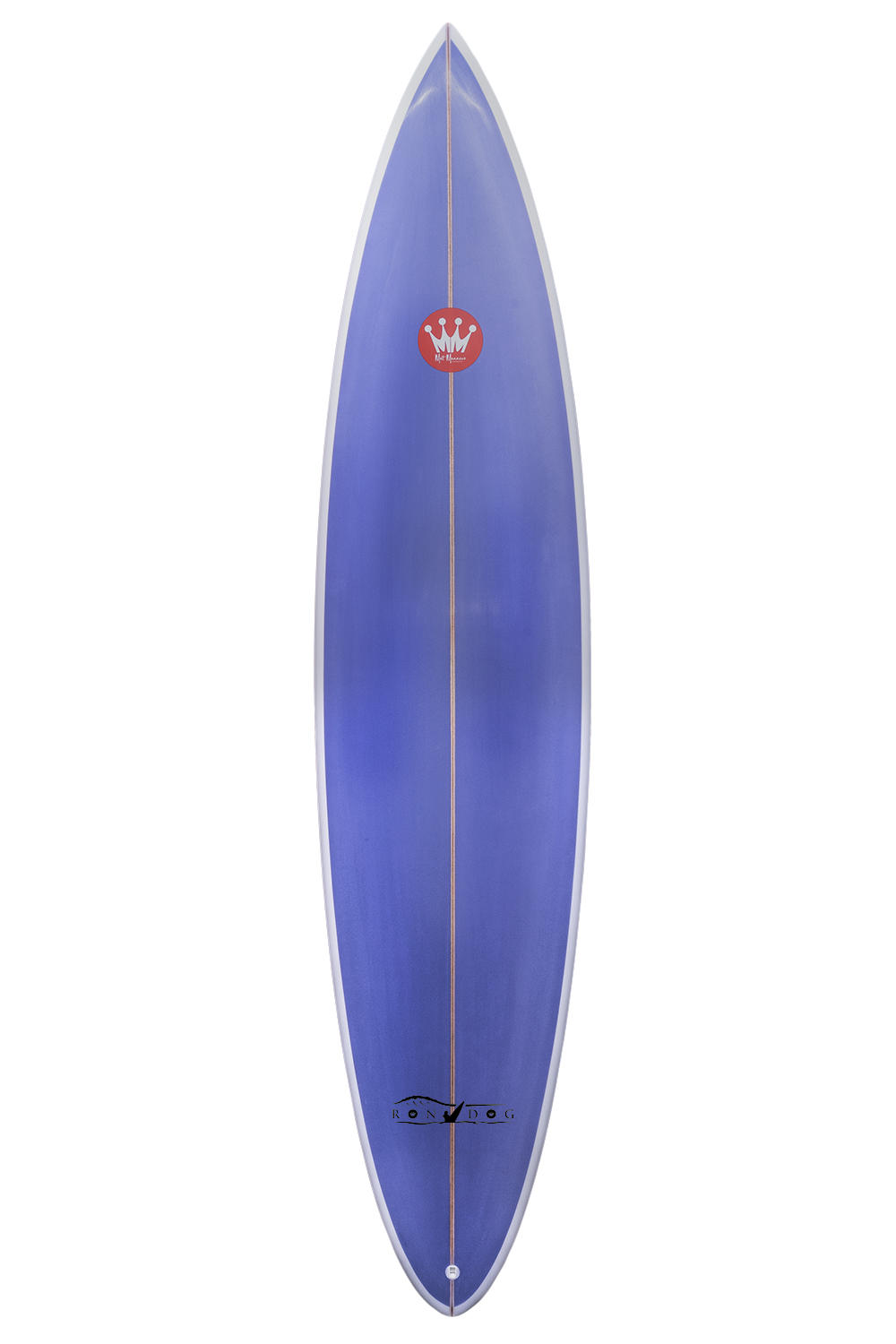 "Shape : Rondog   Length:  7'6""   Width:  19 7/8""   Thickness:  2 3/4""   Volume:  38L   Fins:  Thruster FCS II   Tail Shape:  Pin"