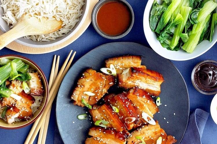 Hoisin and honey pork belly -
