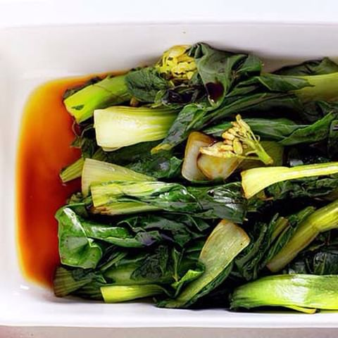 ASIAN GREENS WITH SOY