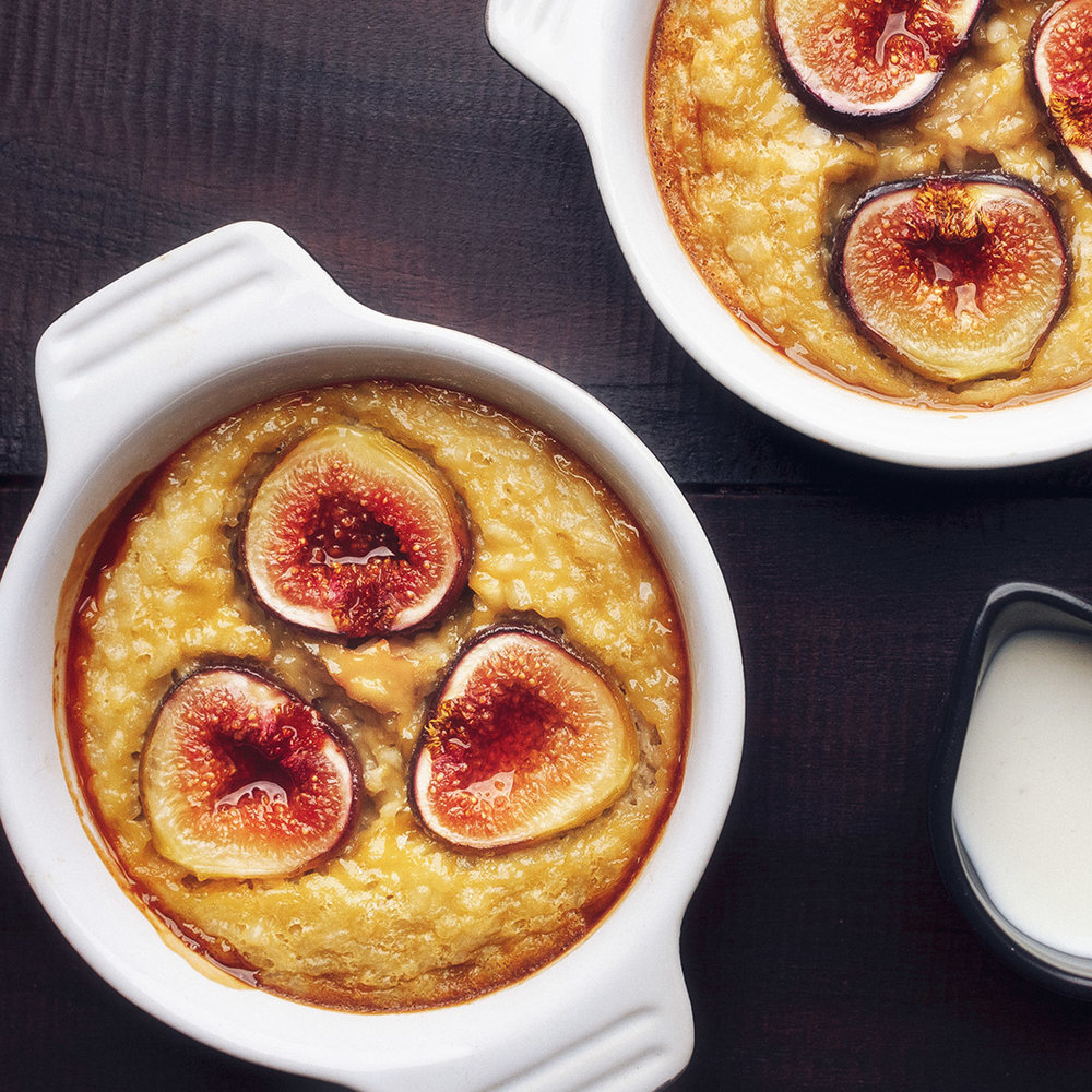 COCONUT RICE CAKE WITH HONEYED FIGS