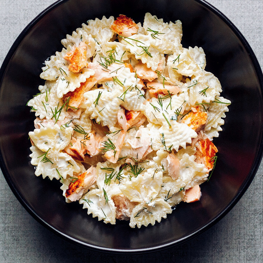 Salmon and lemon-ricotta pasta