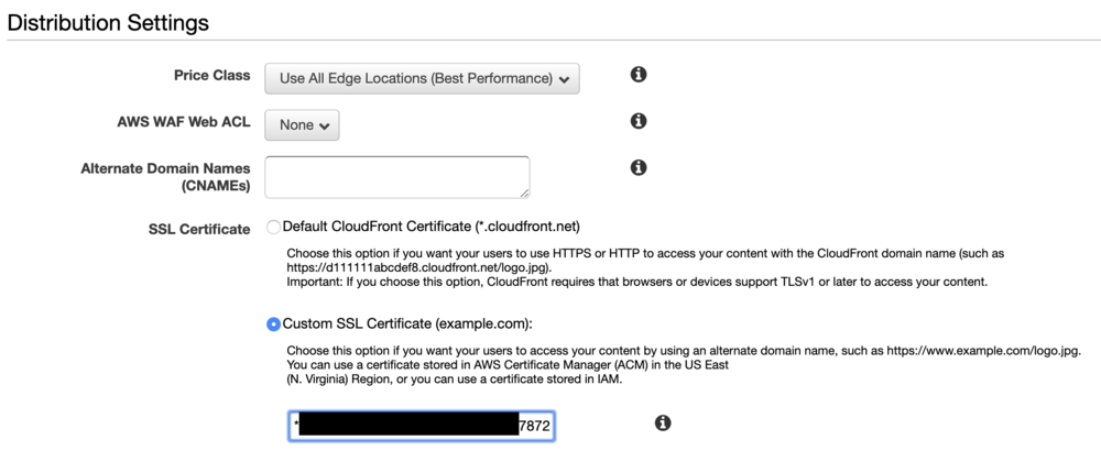 Cloudfront - step 3