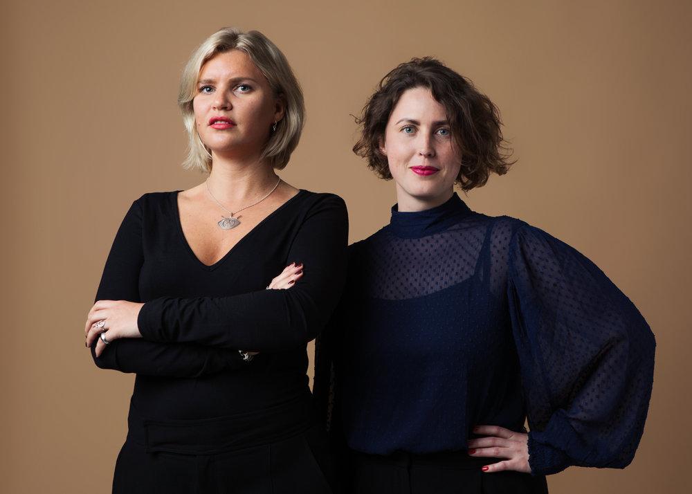 Nattskiftets grundare Lisen Andréasson Florman tillsammans med verksamhetschef Mikaela Stenberg