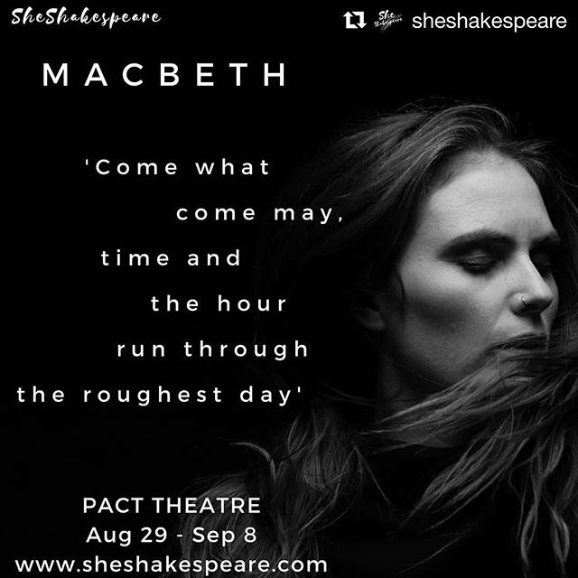 So excited for our Bird @bethlomac! We can not wait to see @sheshakespeare's latest production. MACBETH - opening Thursday! Chookas to the entire cast and crew x  #Repost @sheshakespeare with @get_repost ・・・ Beth McMullen - Macbeth Opening this week PACT Theatre  Aug 29 - September 8 Book your tix at www.sheshakespeare.com Photography by  Isobel Markus-Dunworth @__isobel_ . . . . . #womenempowerment #womeninart #shakespeare #independent #art #actor #writer #director #producer #feminism #feminist #femininity #celebratewomen #create #stage #sydney #australian