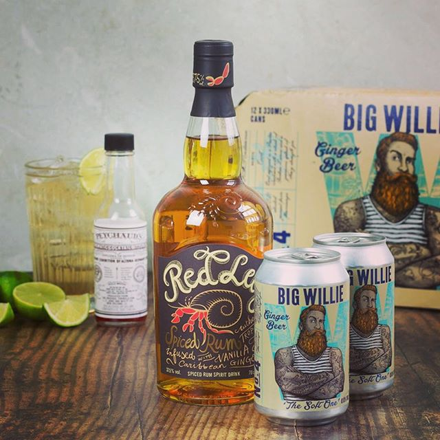 For when the weather gets dark and stormy... cosy up with some @redlegrum and #bigwillie ginger beer🍹 . 📷Repost from @thisiscocktailculture . #bigwillie #bigwilliedrinks #cocktail #rum #gingerbeer
