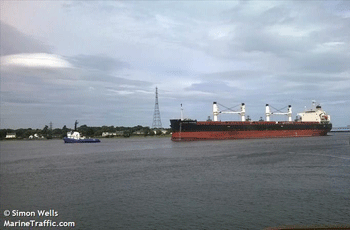 51.687 dwt bulk carrier built in 2010 by Oshima Shipbuilding in Saikai, Japan.  Manager: Seven Seas Carriers AS Flag: Norway AIS Type: Cargo Ship Ownership: 75% Fixed on a 11-13 months charter to Cargo Levant, Bremen with commencement 11th October at USD 11.550 gross per day.