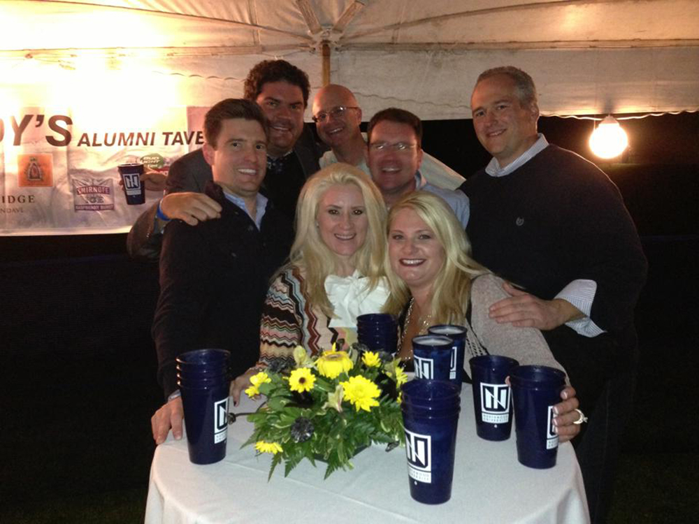 beer tent group with cups