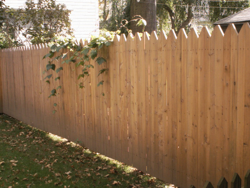 Single Sided Custom Cedar Fence