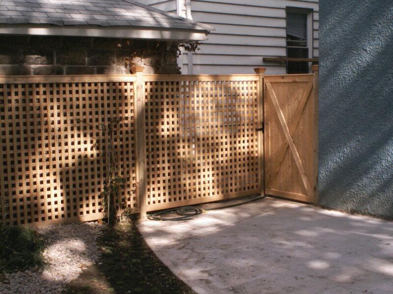 Wood Lattice And Gate