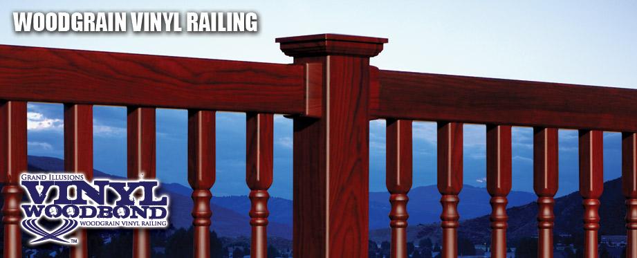 Wood Grain Vinyl Railing