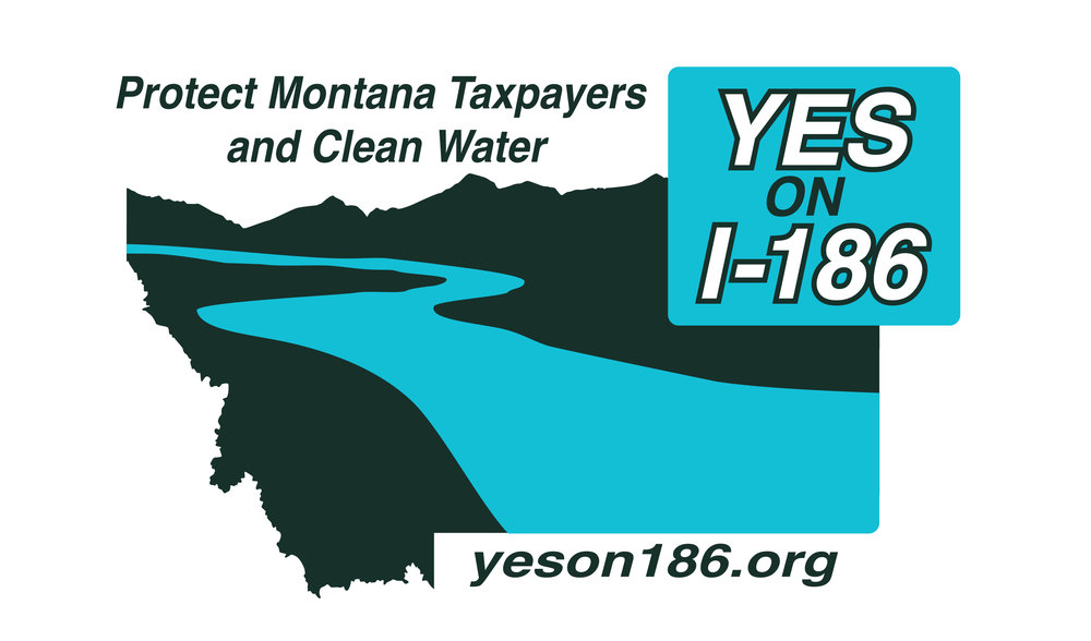 Logo for Yes for Responsible Mining Initiative, I-186, a clean water ballot initiative in Montana