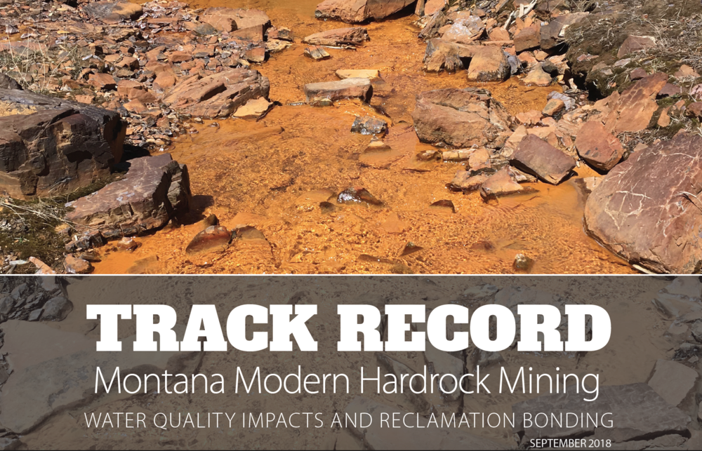 A look at water quality impacts from Montana's hard rock mines. Click image to download report