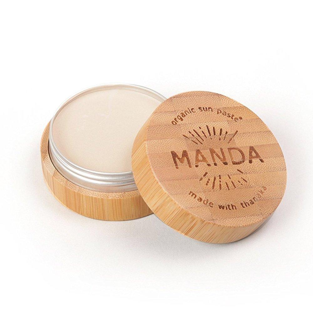 MANDA Organic Sun Paste SPF 50 available at   Amazon
