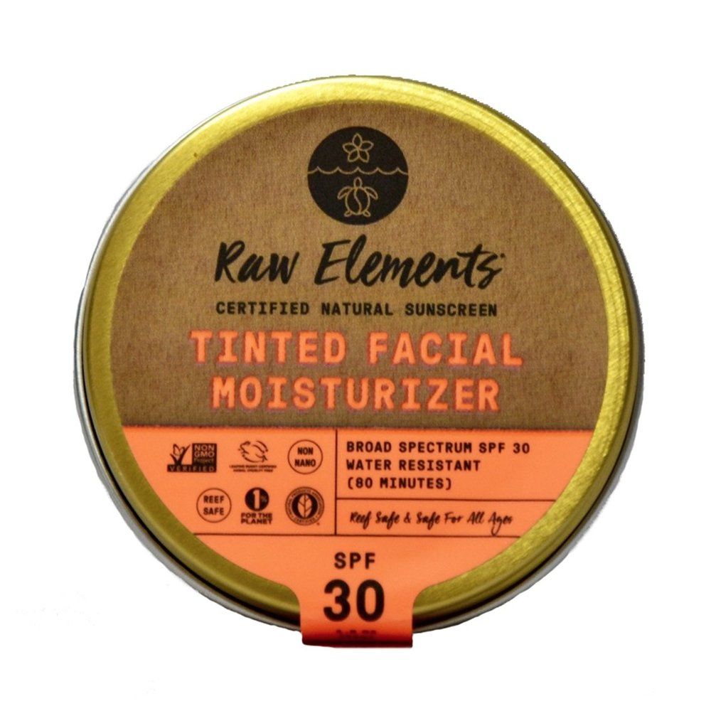 Raw Elements Tinted Facial Moisturizer SPF 30 available at   The Choosy Chick