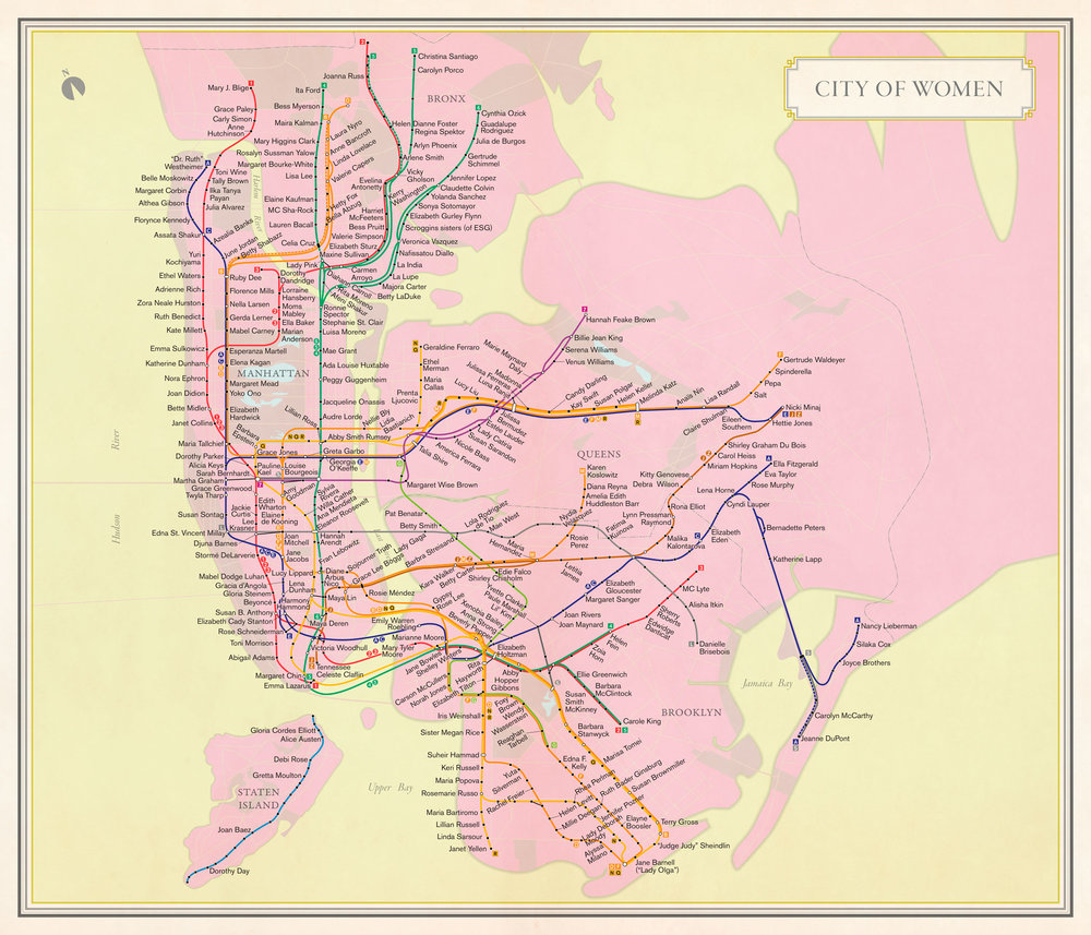 "Cartography by Molly Roy, from ""Nonstop Metropolis,"" by Rebecca Solnit and Joshua Jelly-Schapiro. Subway Route Symbols ® Metropolitan Transportation Authority"