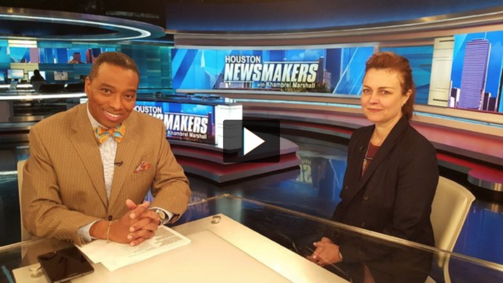 Houston Newsmakers Interview Kristin Anderson  - March 18, 2018