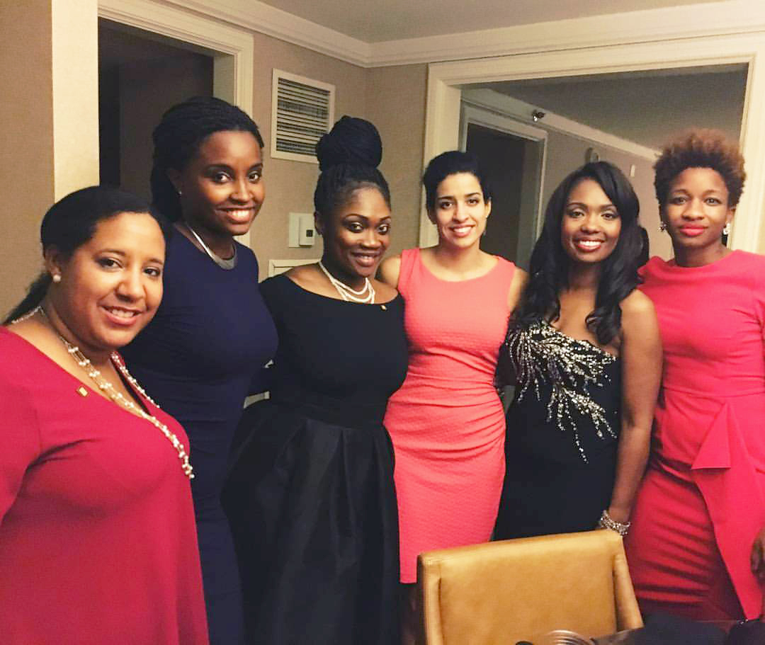 Imani (second from left) with Tya Winn, Tiffany Brown, Victoria Acevedo, Nicole Singleton, and Gabrielle Riley at NOMA Conference in Los Angeles, 2015.