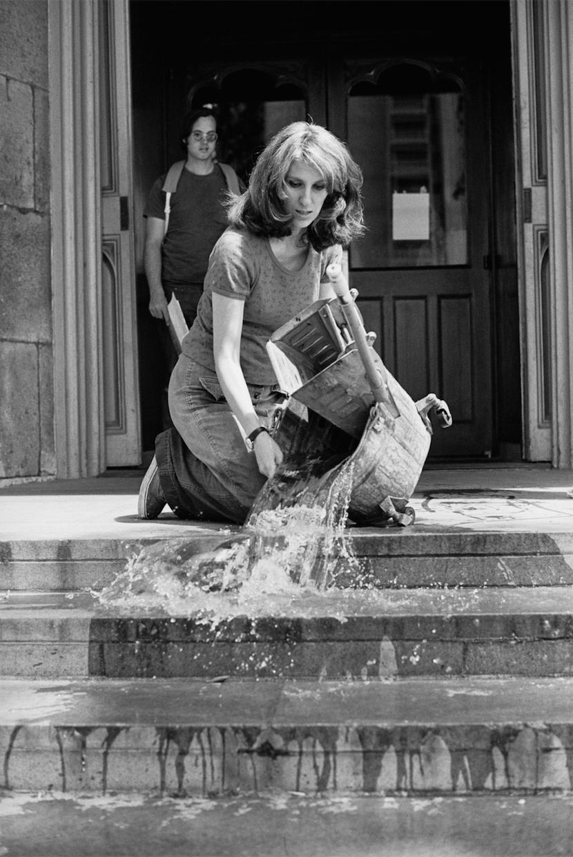 Mierle Laderman Ukeles, Hartford Wash: Washing, Tracks, Maintenance: Outside, 1973
