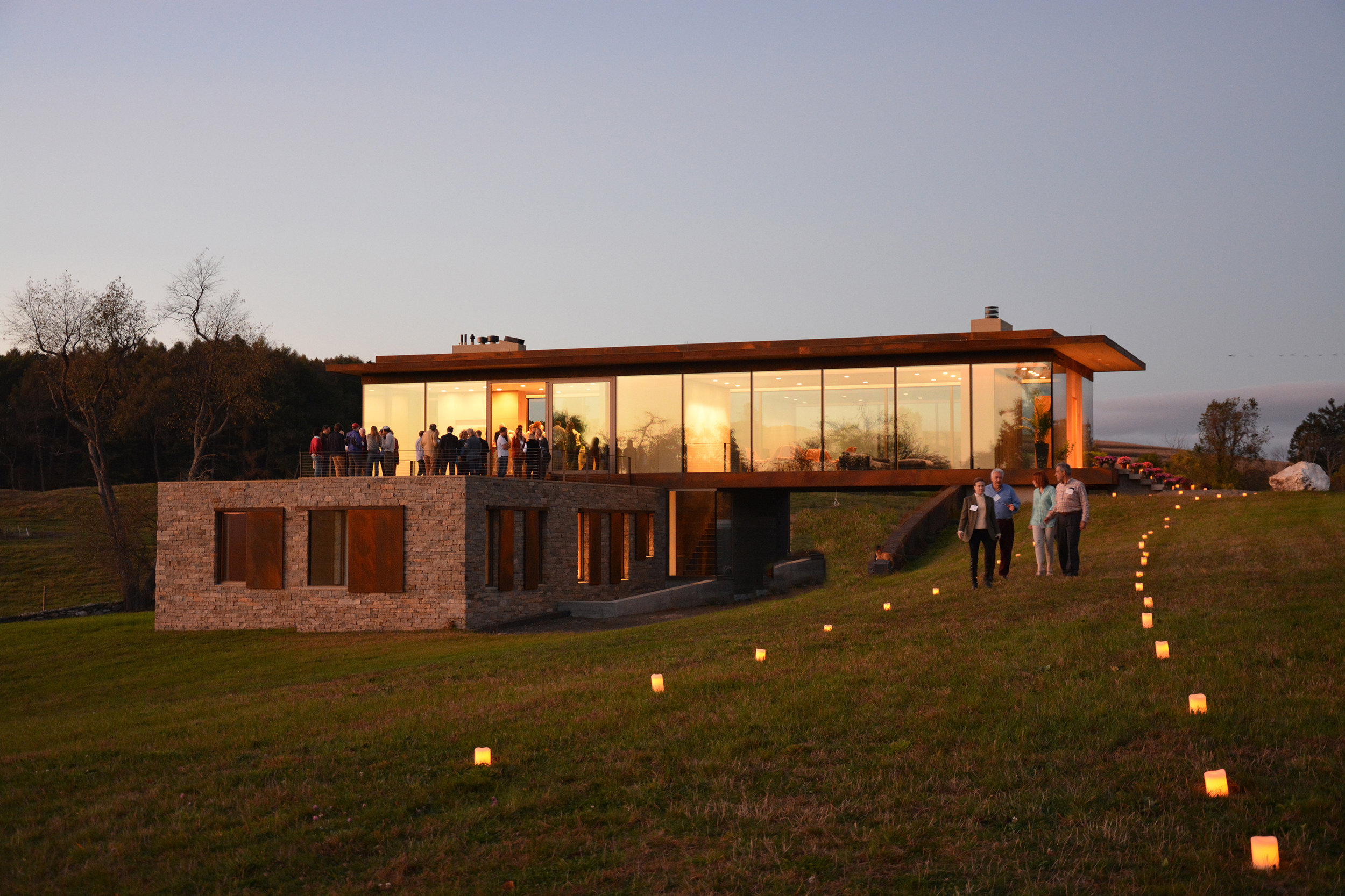 Slade Architecture's most recently completed project - a home in upstate NY