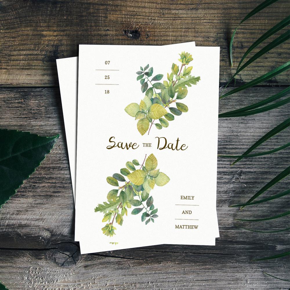 Save The Date Card Jessica Cloe