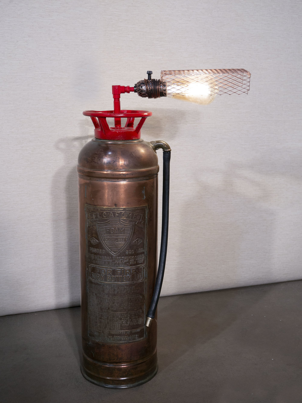 Fire Extinguisher Lamp   Rebellish Inc  (Amanda Melerine & Jesse Findorff)  Lighting