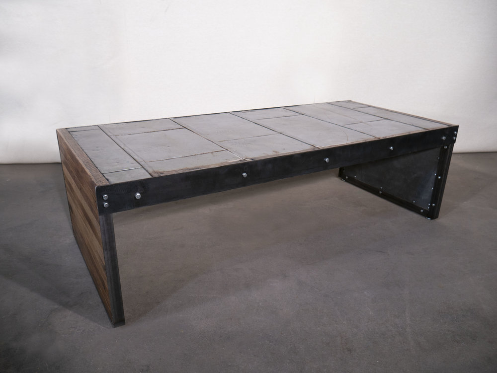 Antique Firedoor Coffee Table   heartpine&soul  (John Thornton & Antoinette Reynolds)  Furniture