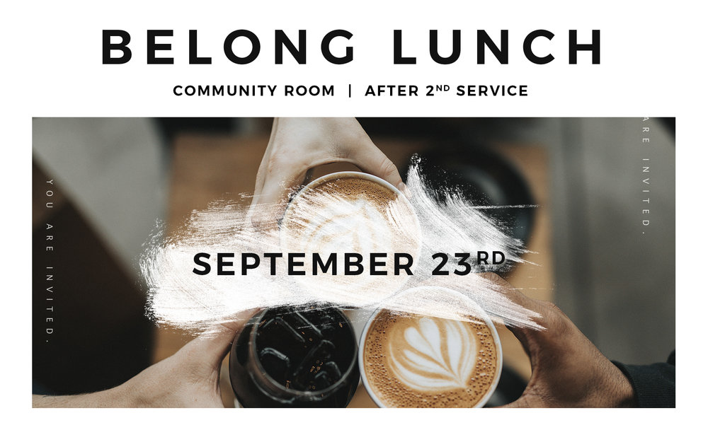 If you consider yourself new to HillCity, we'd love to connect with you! Please join us for lunch (on us) in the Community Room after the 2nd service. We will eat, visit, and even answer any questions you may have. Children are welcome!  Let us know you're coming by emailing info@hillcity.ca.