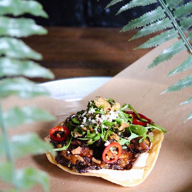 The Toast With The Most 🍄 Mushroom Tostada Making Rounds Tonight & Every Night. #Veggie  #LCuptown & #LCsouthcentral - Everywhere else real soon!