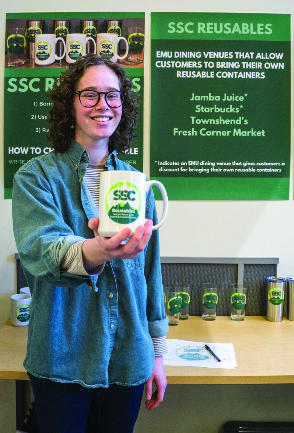"""""""We've already had a lot of good feedback on the program,"""" said Waste Reduction and Reusables Coordinator, Julia Olson."""