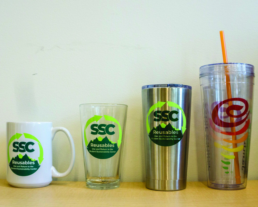 Students can rent tumblers, pint glasses, or mugs for three hours with the new Student Sustainability Center Reusables Program, located in the Erb Memorial Union.