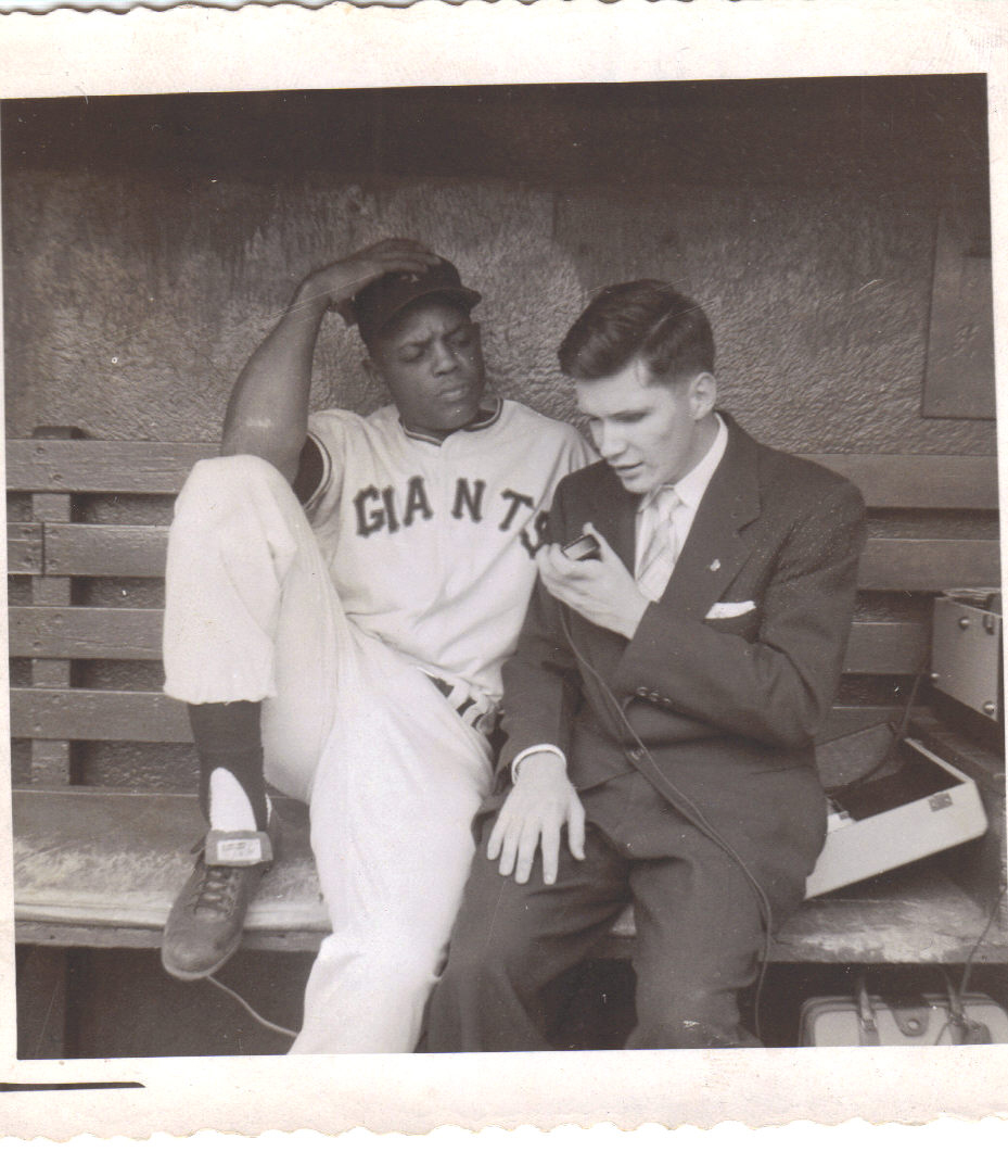 Ed interviews Willie Mays, September 8, 1957.jpg