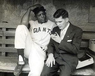 #TBT Ed Lucas interviewing Willie Mays September 1957 at the age of 18.  Last game for the Giants at the Polo Grounds in NY.  #WillieMays #EdLucasFoundation #NYGiants #baseball #BlackHistoryMonth #SayHeyKid @sfgiants