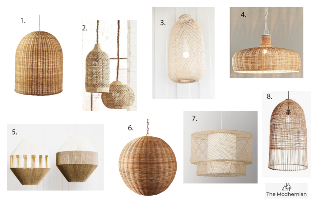 woven pendant lighting