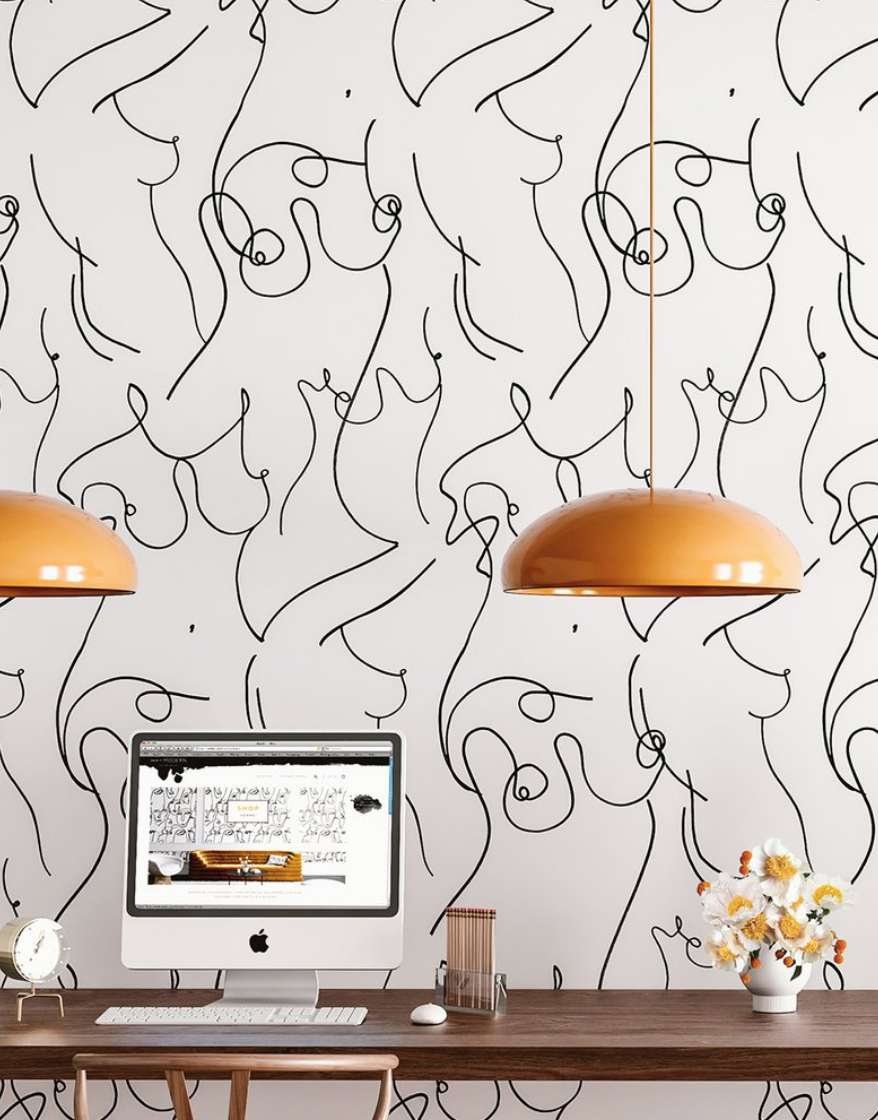 lady wallpaper, boob wallpaper, drop it modern