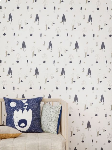 ferm living kids, kids room wallpaper